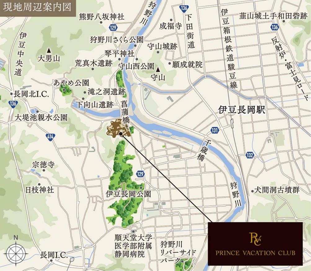 現地周辺案内図